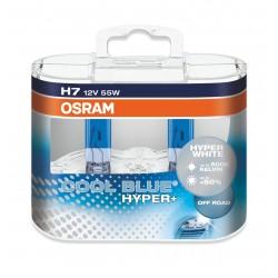 لامپ H7(دوفیش)نور سفید اسرام Cool Blue Hyper (جفت)