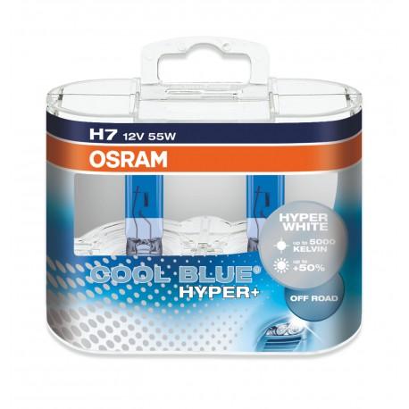 لامپ H7(دوفیش) Cool Blue Hyper اسرام
