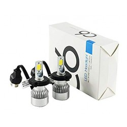 لامپ H7هدلایت C6 با رنگ نوری سفید(جفت)