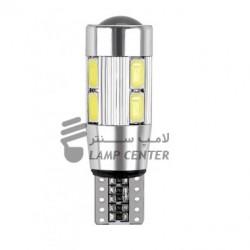 لامپ 10SMD لنزدار  نورسفید  (جفت)