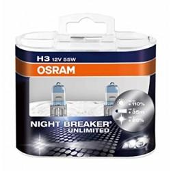 لامپ H3 (سیمدار) نایت بریکر انلیمیتد NBU اسرام(جفت)
