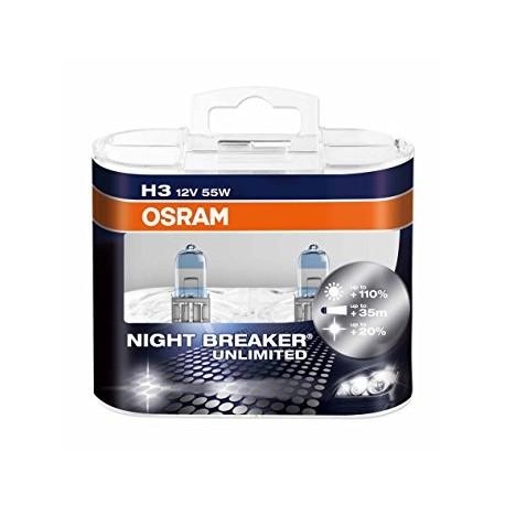 لامپ H3 (سیمدار) نایت بریکر انلیمیت اسرام(جفت)